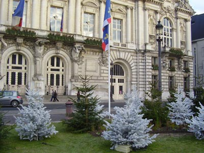 Ville de Tours  Sapins de Noël Glacé ROBIN®, fournis et livrés par ROBIN Pépinières