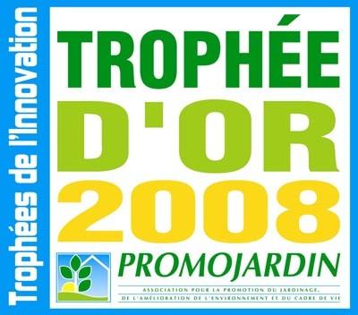 2008 : 60 ans de ROBIN Pépinières. Des trophée et médaille.